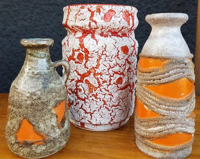 Trio vintage pots