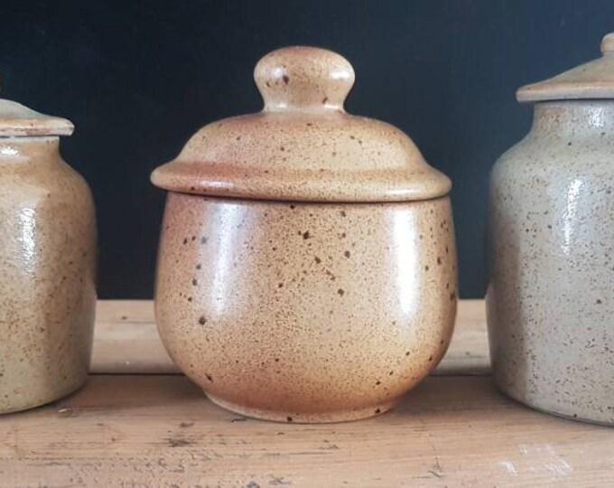 Trio spice pots sandstone