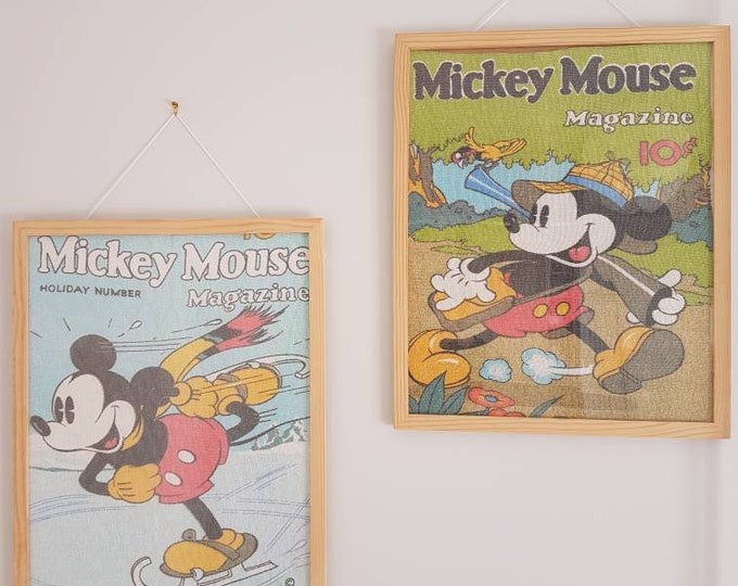 DIY mickey mouse vintage advertising