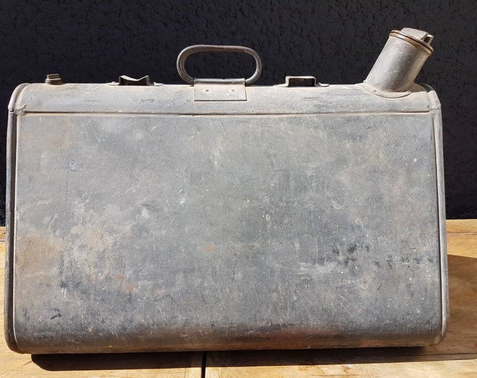 Old vintage jerry can, industrial decoration