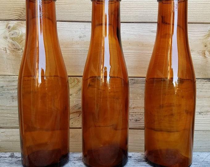 Trio glass bottles