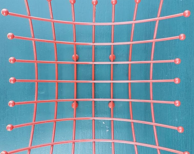 Red wired basket