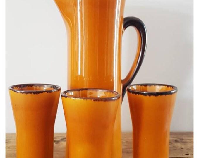 Vintage orangeade service