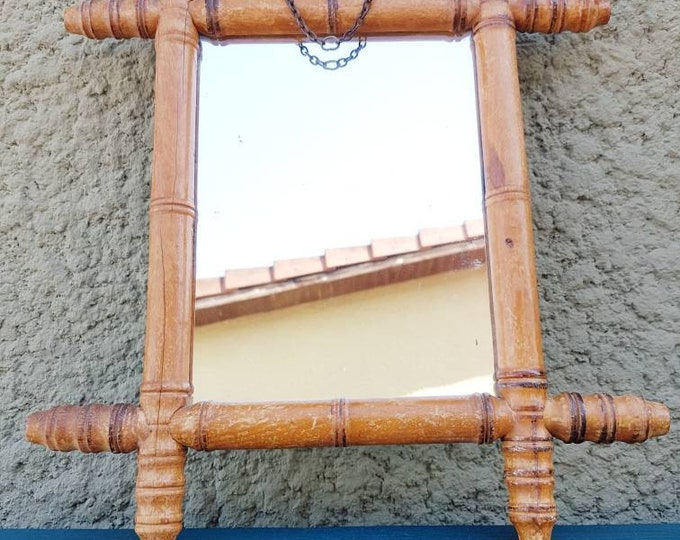 Ancient wood mirror