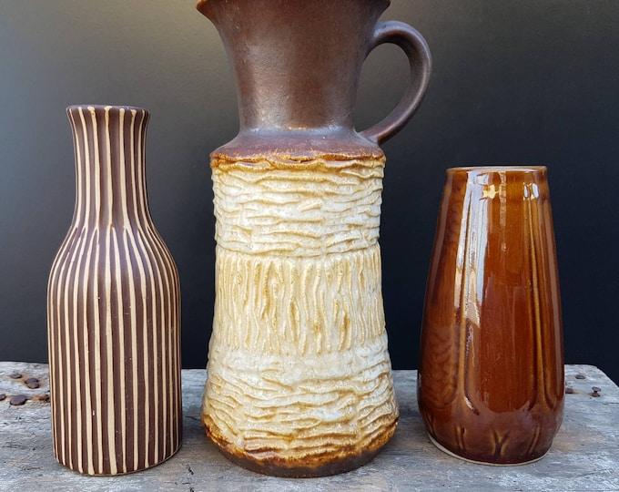Trio terracotta pots