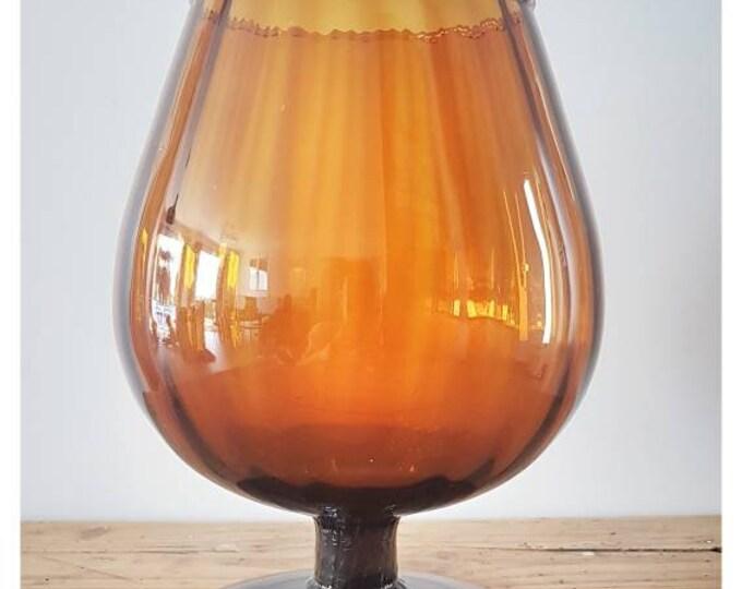 Amber vintage vase