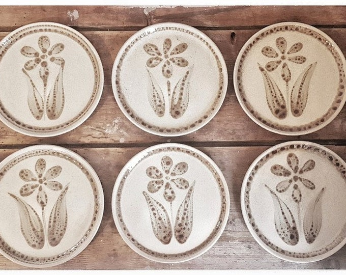 Service 6 plates dessert sandstone