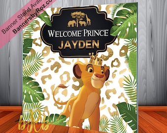 Cartoon Lion king Backdrop Baby Shower Kid Birthday Party Decoration Background