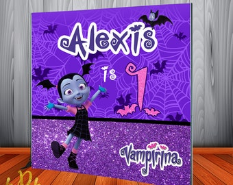 Vampirina Backdrop Banner for Birthday Party - Custom Birthday Backdrop 25f4a18cb1ec
