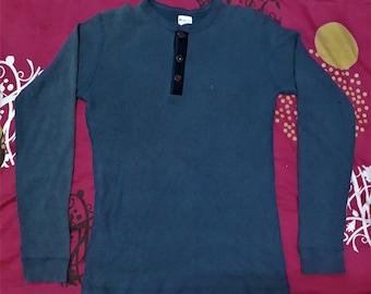 Vintage Champion Long Sleeves Half Button Shirt