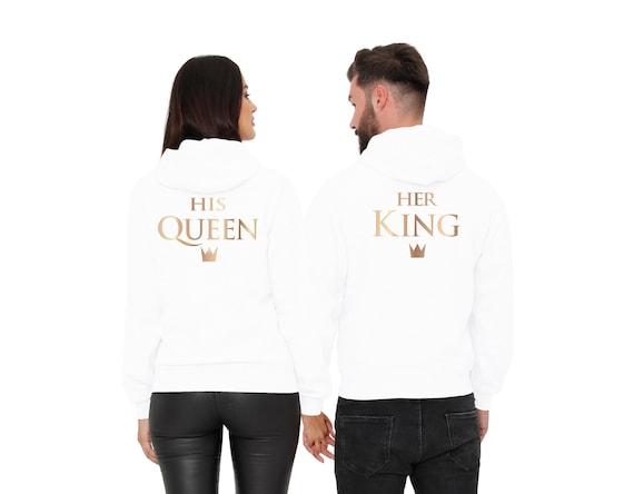 King Queen Partnerlook T-Shirt 2er Set als Partner Geschenk von Cold /& Heartless