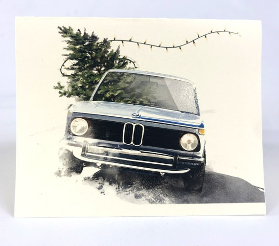 Bmw 2002 Christmas Card 6 Pack Etsy