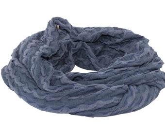 f4fc2c66029abb Loop Scarf blue Tube scarf round scarf Jerseyscarf Ladies Scarf Dove blue