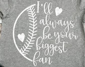 Baseball svg, baseball mom, always your biggest fan, baseball svg, svg file, baseball shirt, baseball clipart, baseball mom svg, grunge svg