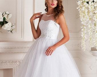 """White wedding dress """"Amazing charm"""""""