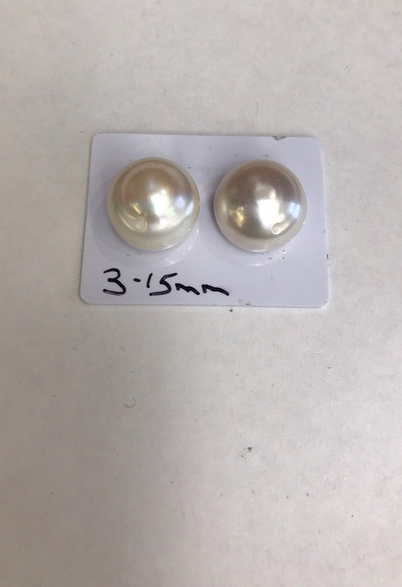 15mm  14mm Gold Cultured Freshwater Pearls  mounted on 14k Gold