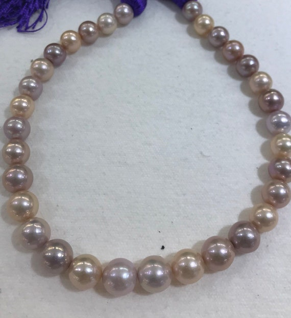 Multi Color Cultured Feshwater Pearls  12x15mm  14k Gold Clasp  17""