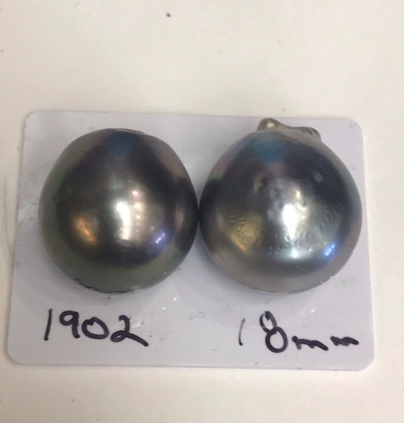 18mm Tahitian South Sea Pearls Great Lustet and Luster , Button Shapes  faces up Clean