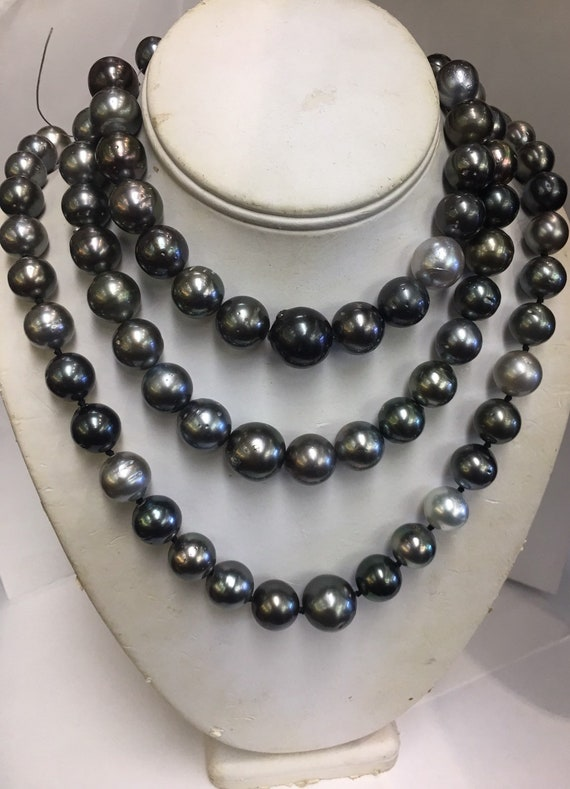 "12.5x17.5mm Tahitian South Sea Pearls   17""  18""  19"" Strands  and 3 Strands have a 17mm Pearl or Larger"