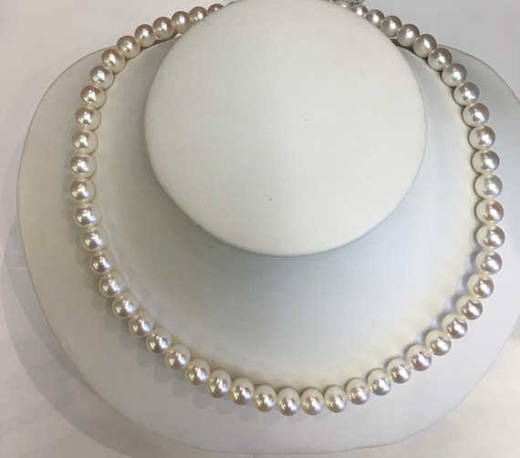 7mm Cultured Freshwater Pearls  17""