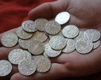 10x Replica Viking Coins- 100% handmade.