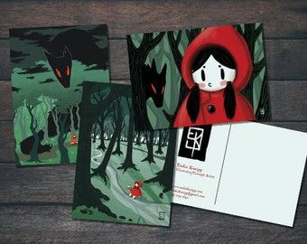 Red Riding Hood Postkartenserie