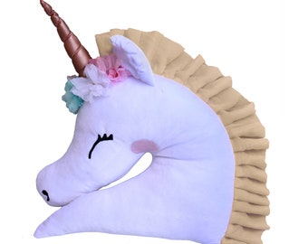 3D Unicorn Toy Pillow Giant Magical Floral Big Size Cute Perfect Birthday Gift For Child Kids