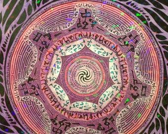 Seven-fold Mandala Holographic Poster
