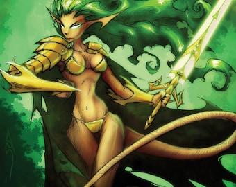 Fae Battle Goddess Holographic Poster