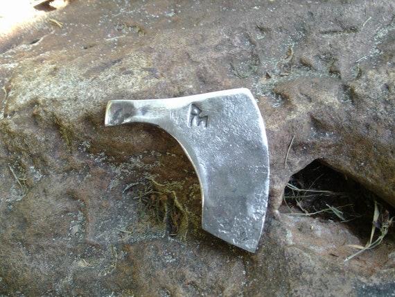 Hand forged Viking axe flint striker/flint steel necklace/keychain