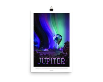 NASA / JPL ~ Jupiter ~ Visions Of The Future ~ Travel Poster
