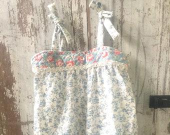 Little girls Spring Summer dress, handmade, playtime clothing