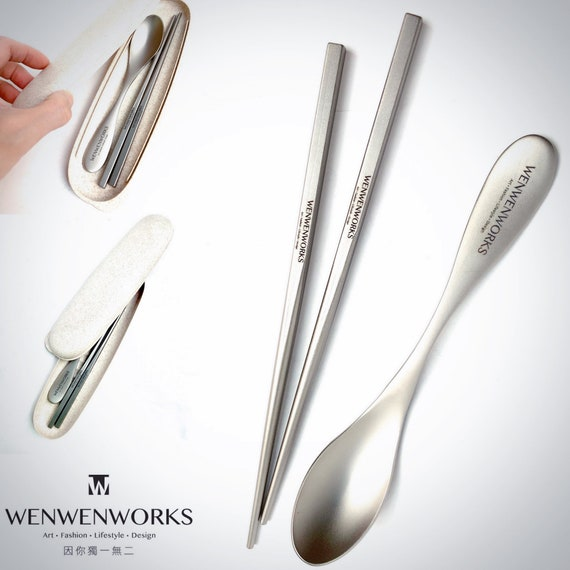 WENWENWORKS Premium Titanium Chopsticks  \u30d7\u30ec\u30df\u30a2\u30e0 \u30c1\u30bf\u30f3\u7bb8