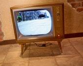 LCD TV Bar - Vintage 1960s Roku Streaming TV Digital Fish Tank Book Display Digital Company Sign Prop