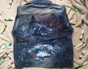 Shark Attack - Denim Jacket