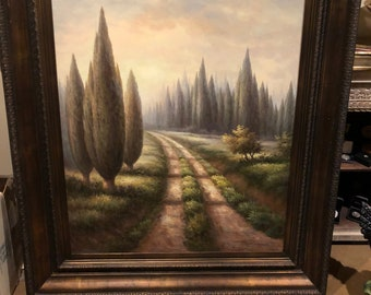Through The Forrest - Original Oil Painting.  Very Large Painting!!!