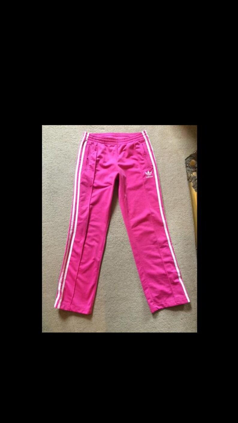 63214d6371c5 80s Adidas Originals Firebird Trefoil Tracksuit Bottoms Womens