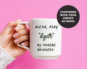 Custom Music 11oz Mug | Alexa Play | Music Quote | Favourite Artist or Band | Phoebe Bridgers Harry Styles Joan Jett | Fun Gift Friends