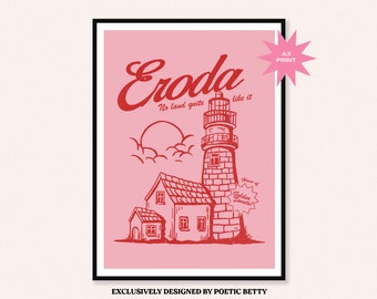 Harry Styles Eroda Lighthouse inspired Art Print   Fine Line   Watermelon Sugar   Adore You HS Canyon Moon   Retro TPWK Poster One Direction