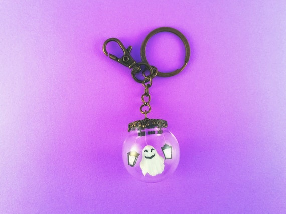 Spooky ghost keychains