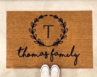 Door mat-doormat-personalized doormat-personalized welcome mat-Last name gift-Custom doormat-Outdoor rug-personalised door mat- Outdoor mat