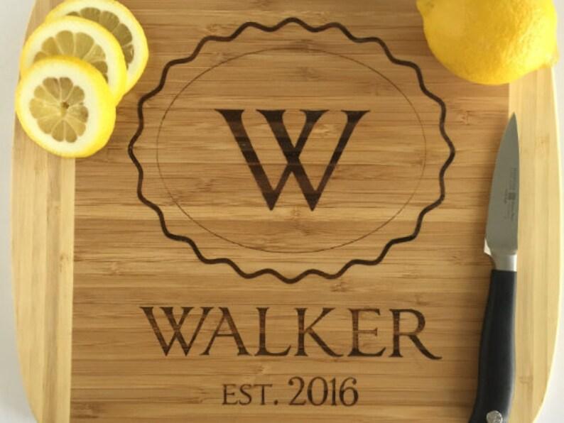 Personalized Cutting Board /'Walker/' Style Personalized Wedding Gift Family Name Cutting Board Housewarming Gift