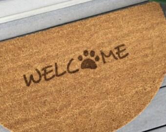 Paw Print Welcome Mat  Doormat  ...