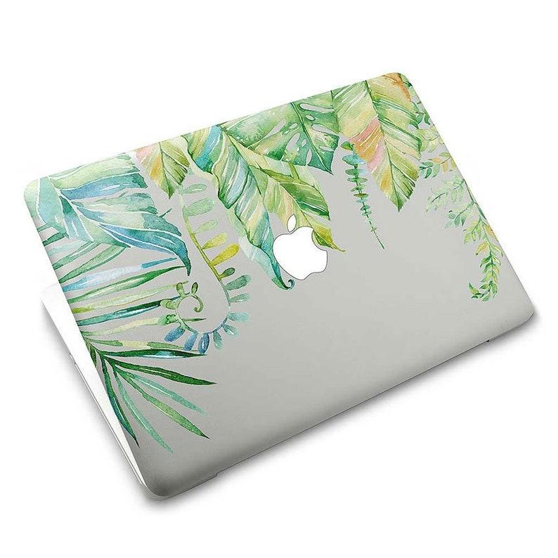 Sticker Vinyl MacBook Skin Protector Decal Tropical Green Leaf 804M