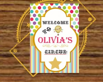 Circus Carnival A3 Welcome Sign