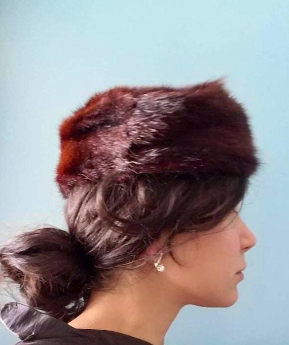60s Fur Pill Hat - image 2