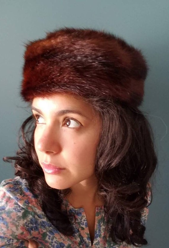 60s Fur Pill Hat