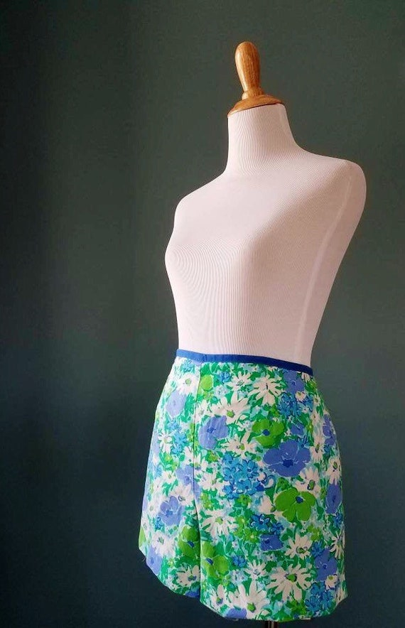 50s 60s 70s Pin up Style Floral Vintage Cotton Swi