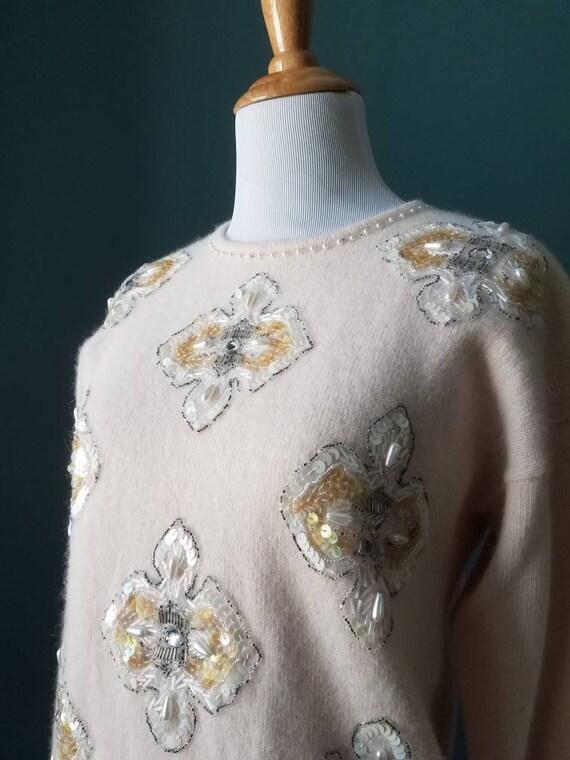 Vintage Angora Sequin Sweater