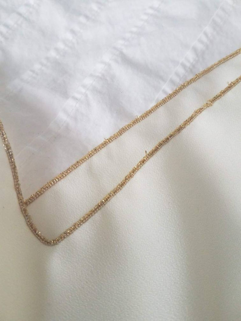 Vintage Gold Trimmed Camisole